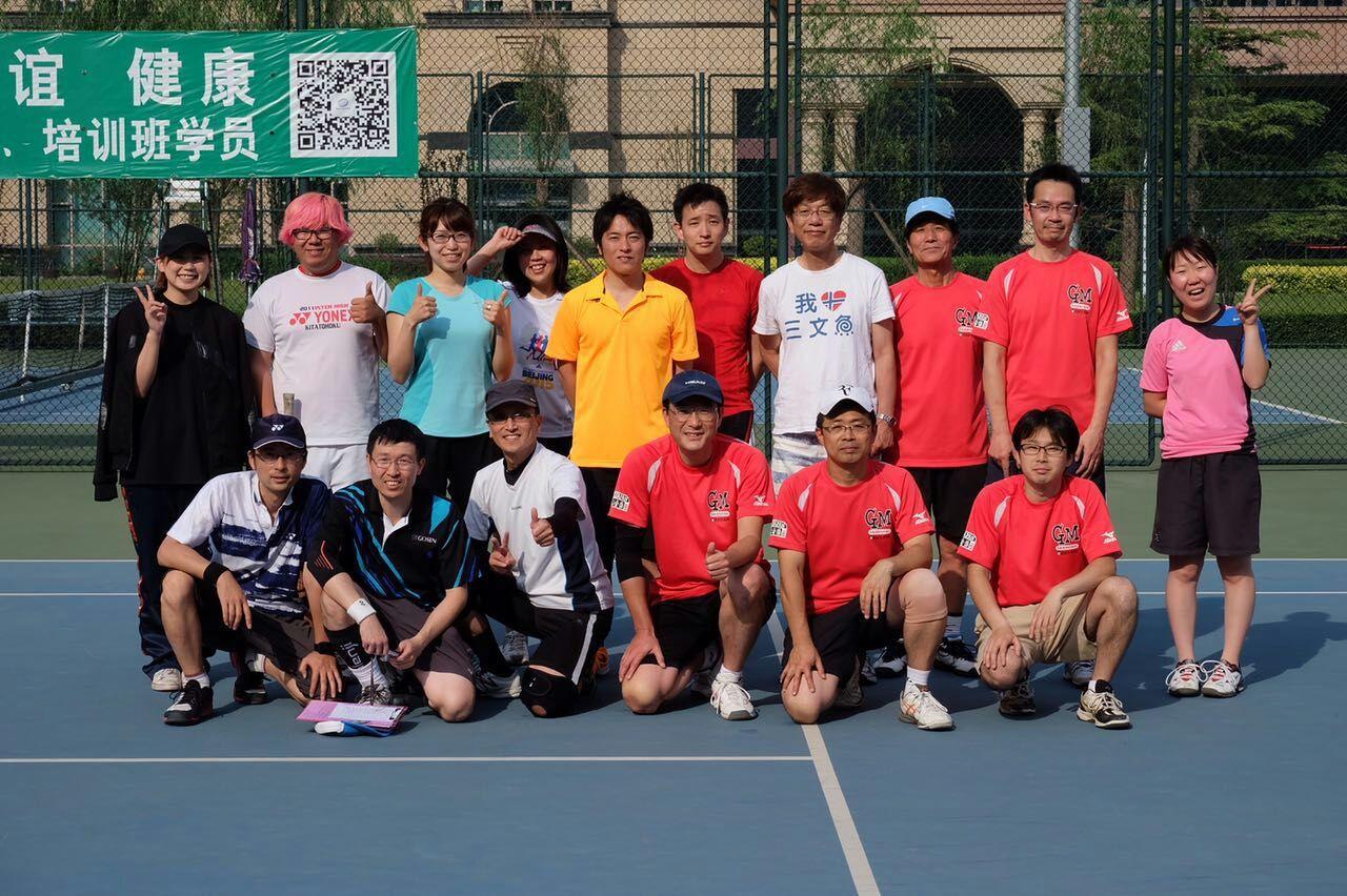 ソフトテニス第8回上海戦北京上海集合写真